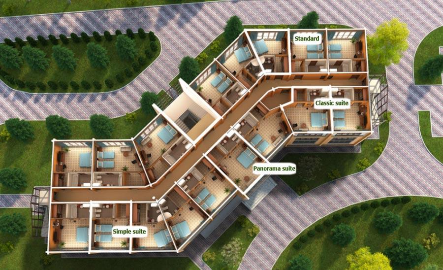 Номера LES Art Resort